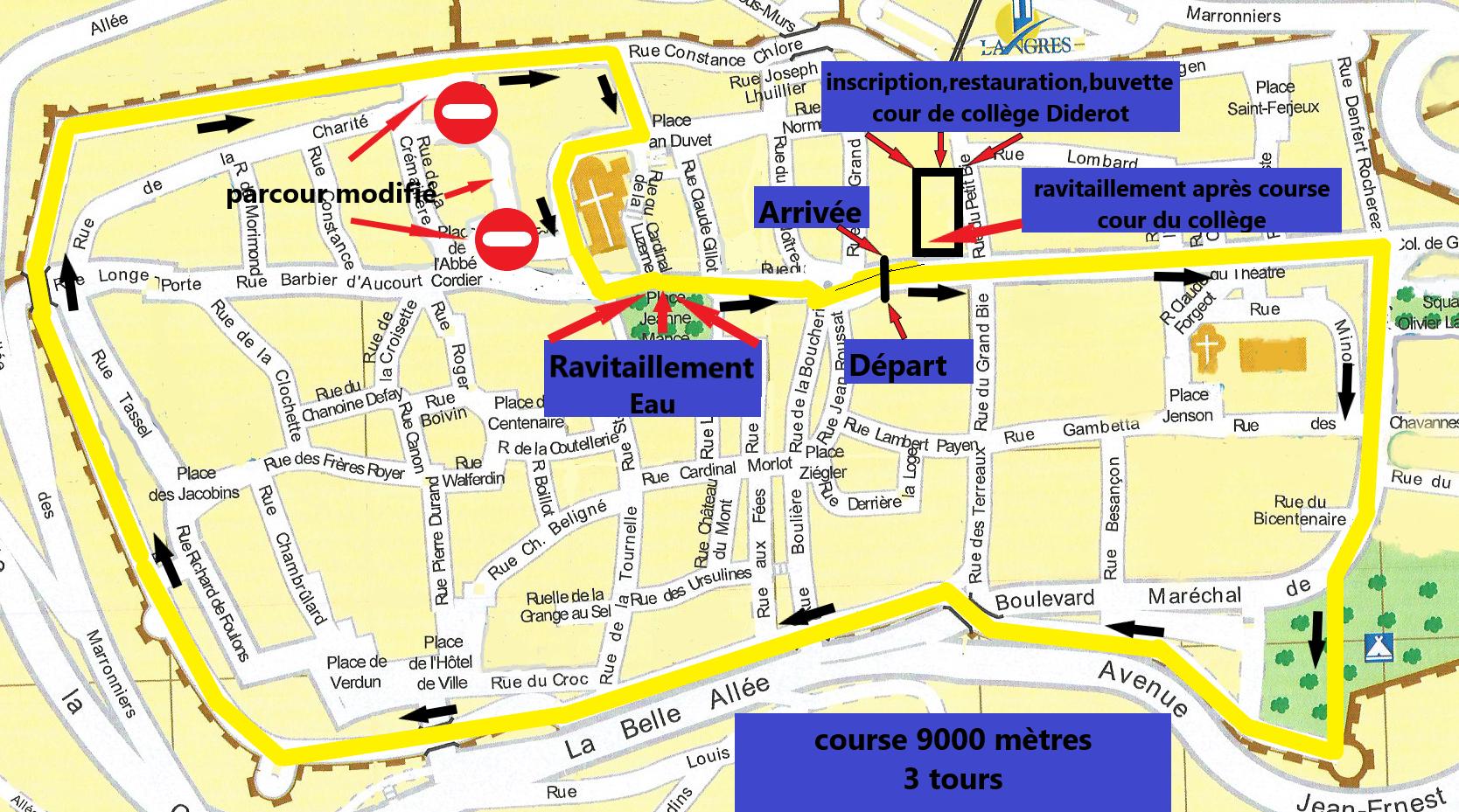 Course 9000m 2019